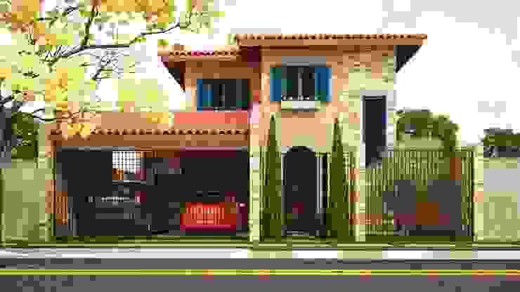 Nhà phong cách Địa Trung Hải bởi Leonardo Morato Arquitetura Địa Trung Hải