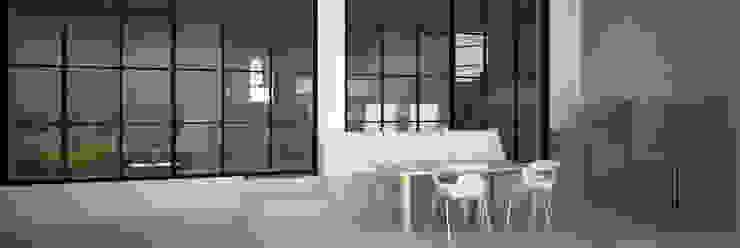 CASA DEL TREBOL Balcones y terrazas de estilo moderno de ESTUDIO DUSSAN Moderno