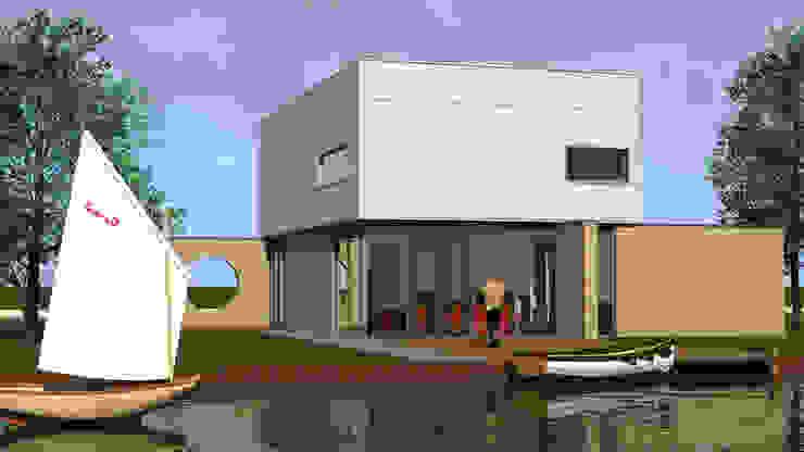 Villa 1 Moderne huizen van De E-novatiewinkel Modern Aluminium / Zink