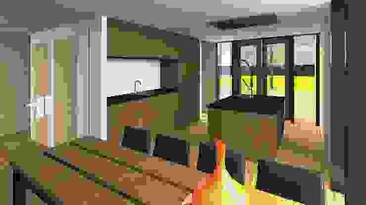 Villa 1 keuken Moderne huizen van De E-novatiewinkel Modern Hout Hout