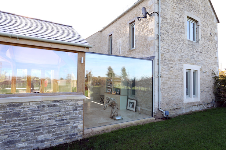 Green Barn Konservatori Gaya Country Oleh IQ Glass UK Country