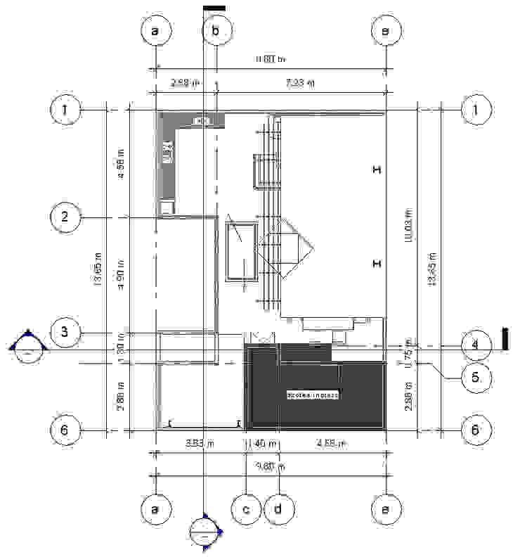 Planta Cubiertas -Terraza CDMX Balcones y terrazas modernos de Arqos Arquitectos Moderno Hierro/Acero