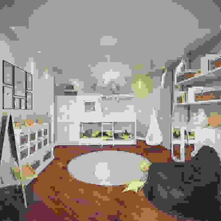 Cuartos infantiles de estilo escandinavo de rudakova.ru Escandinavo Derivados de madera Transparente