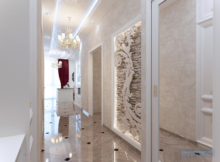 Classic style corridor, hallway and stairs by Студия интерьера Дениса Серова Classic
