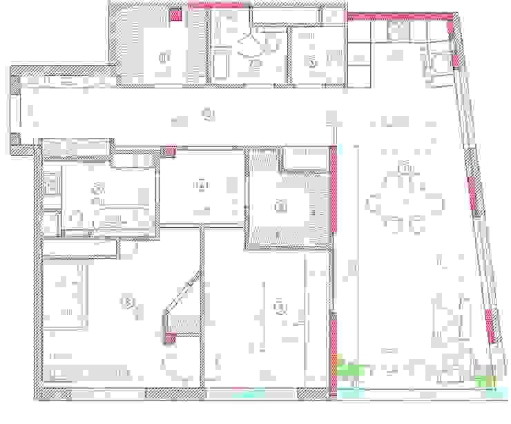 Paredes y pisos de estilo clásico de Студия интерьера Дениса Серова Clásico