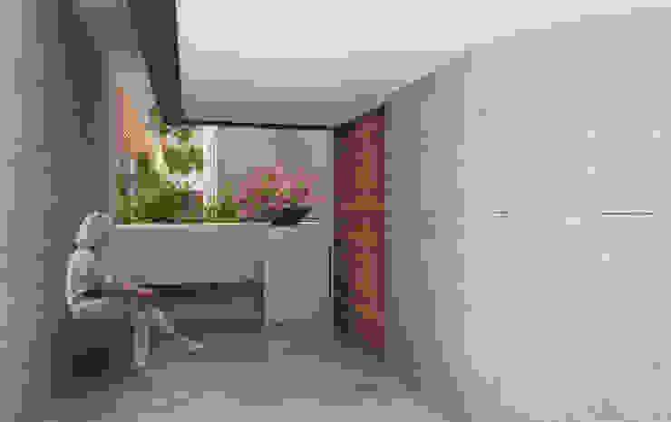 Modern corridor, hallway & stairs by 75 Arquitectura Modern