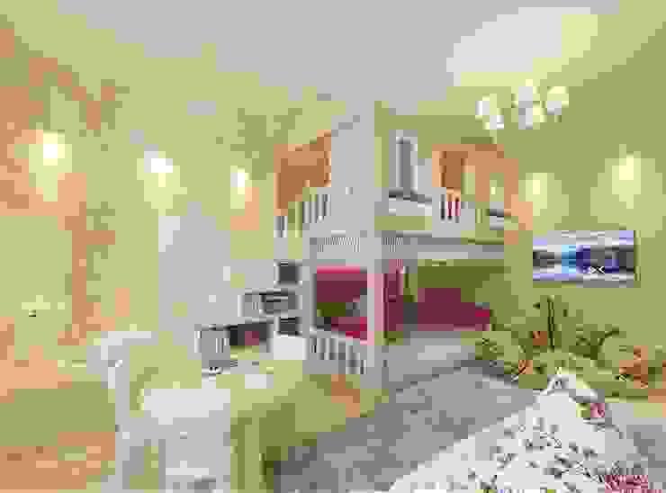 Dormitorios infantiles modernos: de Студия интерьера Дениса Серова Moderno