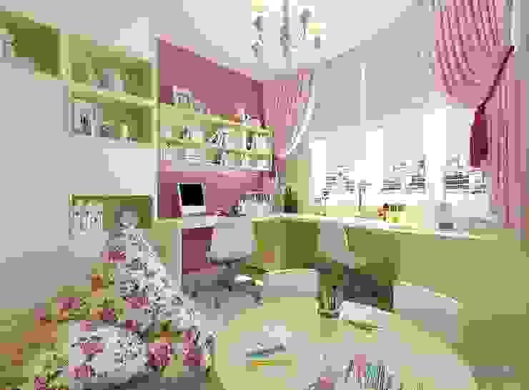 Детская игровая комната 20 кв. м в современном стиле: Детские комнаты в . Автор – Студия интерьера Дениса Серова, Модерн