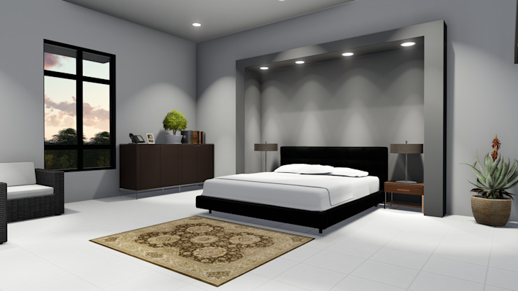 Ellipsis Architecture Modern style bedroom