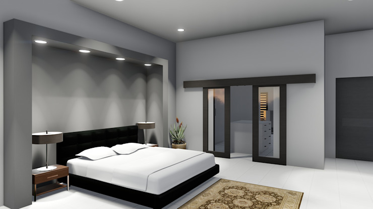 Modern style bedroom by Ellipsis Architecture Modern