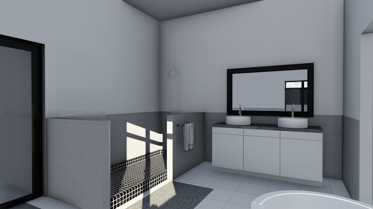 Ellipsis Architecture Modern bathroom
