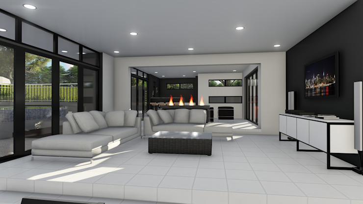 Entertainment area Ellipsis Architecture Modern living room