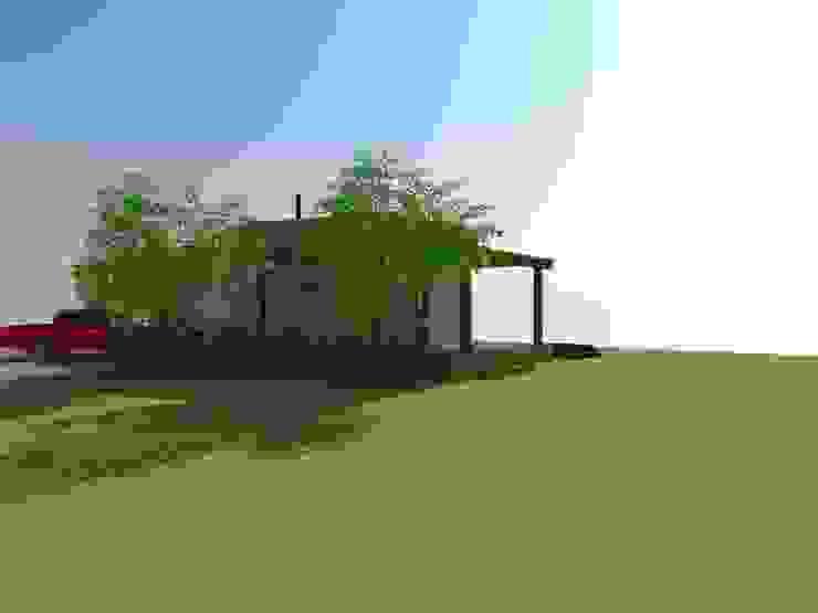 Fachada Posterior de Arquitectura y Construcción Chinquel Rural