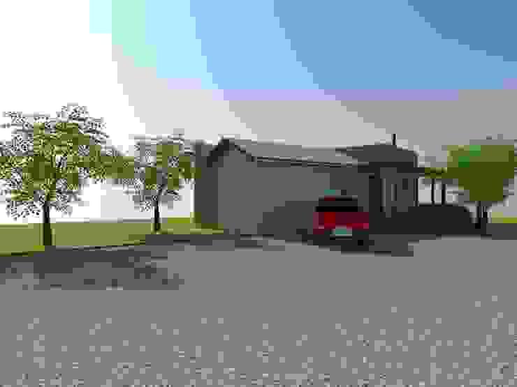 Estacionamiento y Acceso de Arquitectura y Construcción Chinquel Rural