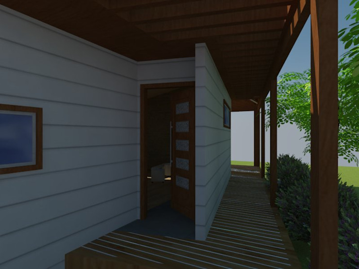 Acceso de Arquitectura y Construcción Chinquel Rural