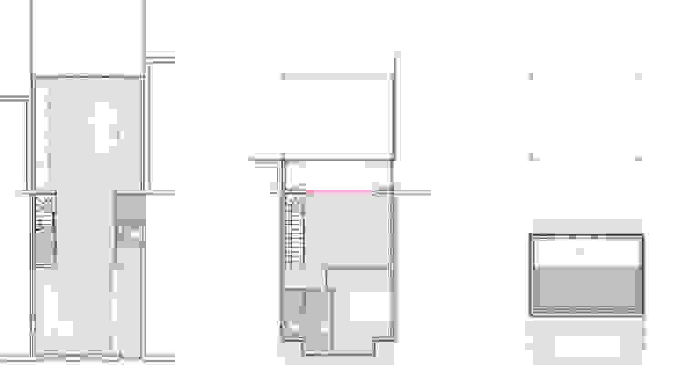 plattegronden na verbouwing:   door architectenbureau Huib Koman (abHK),