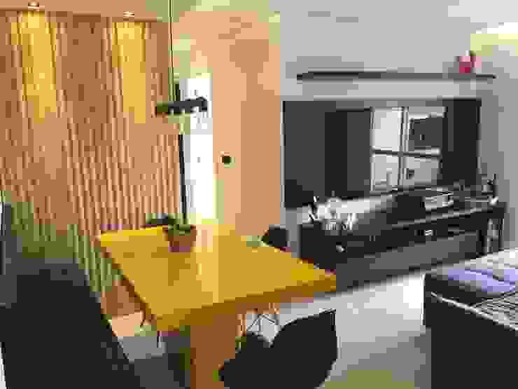 LILIAN FUGITA ARQUITETURA Modern dining room Yellow