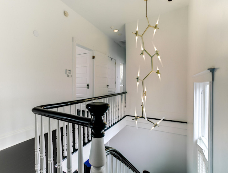 Nashville Avenue Residence, New Orleans Eclectic style corridor, hallway & stairs by studioWTA Eclectic