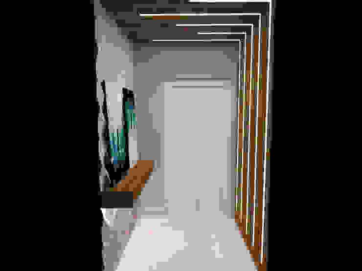 Pasillos, vestíbulos y escaleras de estilo moderno de LILIAN FUGITA ARQUITETURA Moderno