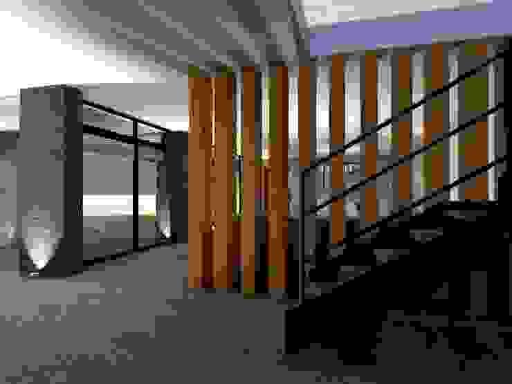 Diseño Oficinas Modernas de casas eco constructora Moderno