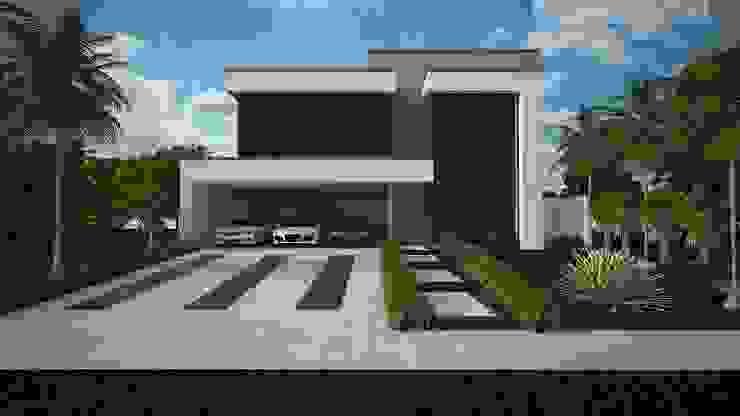 Rumah Modern Oleh Construtora Lima Projetos Modern