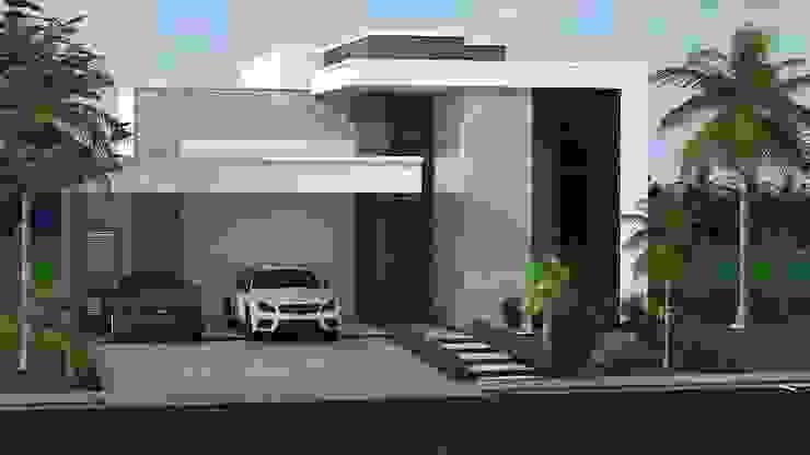 Projeto residencial com 265 metros quadrados Construtora Lima Projetos Casas modernas