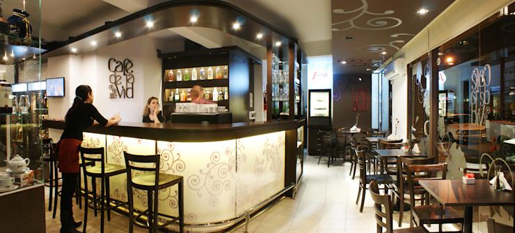 CAFE Bares y clubs de estilo moderno de Estudio Bono-Sanmartino Moderno
