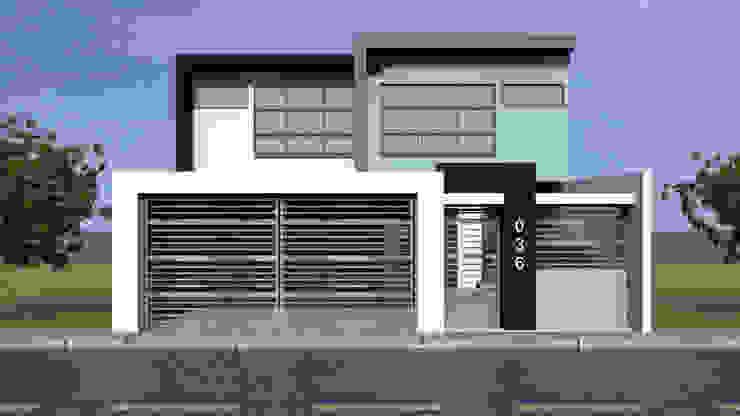 Fachada Principal Casas modernas de Lentz Arquitectura Diseño y Construcción Moderno Concreto reforzado