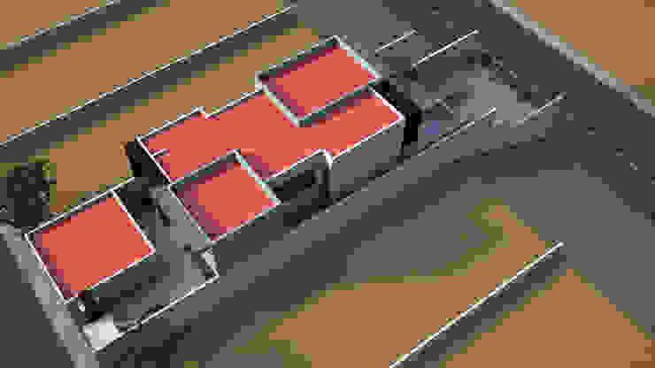 Vista Aerea Casas modernas de Lentz Arquitectura Diseño y Construcción Moderno Concreto reforzado