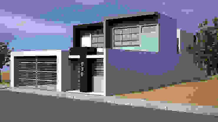 Fachada Lateral 2 Casas modernas de Lentz Arquitectura Diseño y Construcción Moderno Concreto reforzado