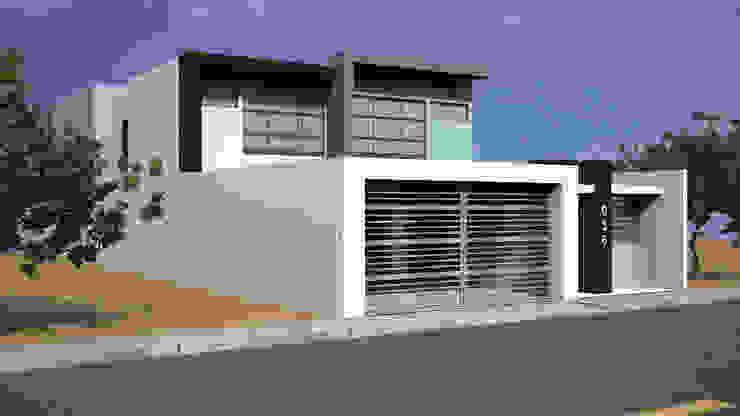 Fachada Lateral 1 Casas modernas de Lentz Arquitectura Diseño y Construcción Moderno Concreto reforzado