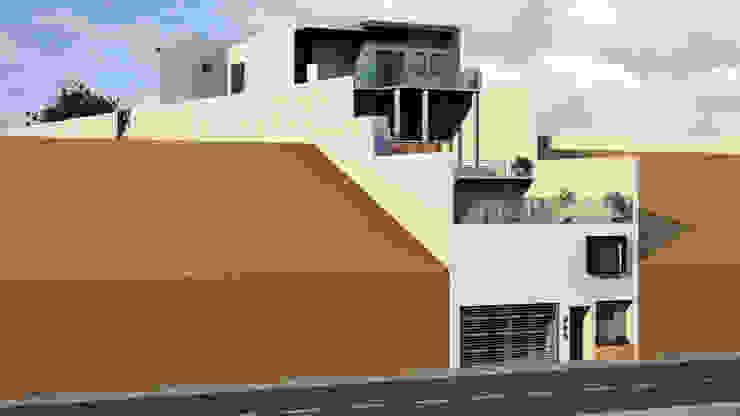 Fachada Lateral 1.1 Casas modernas de Lentz Arquitectura Diseño y Construcción Moderno Concreto