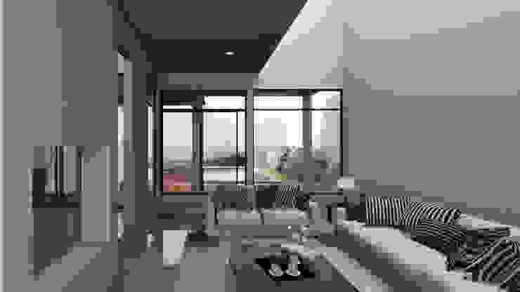 Vista Sala Salones modernos de Lentz Arquitectura Diseño y Construcción Moderno Concreto reforzado