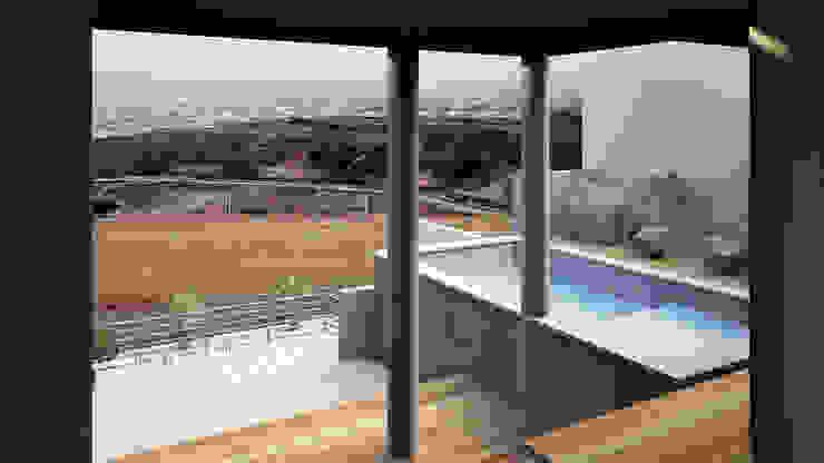 Area de Alberca y Terraza Albercas modernas de Lentz Arquitectura Diseño y Construcción Moderno Concreto reforzado