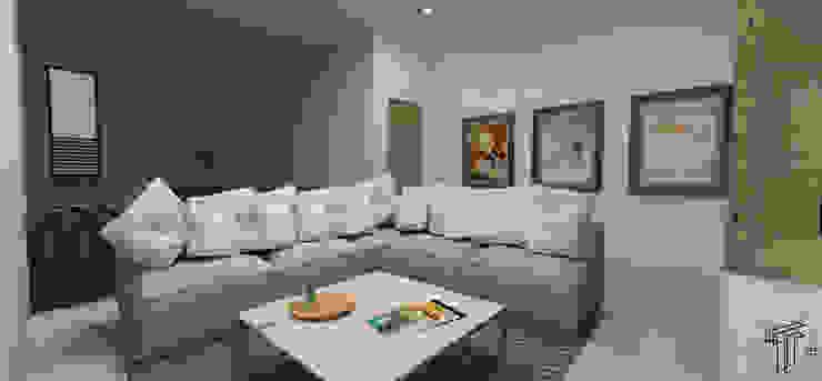CH Modern Living Room by TAMEN arquitectura Modern