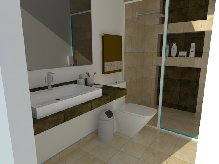 Modern Bathroom by MVarquitectos Modern