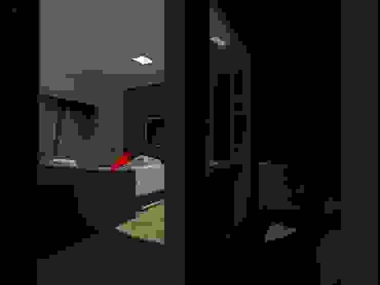 モダンスタイルの寝室 の MVarquitectos Arq. Irma Mendoza モダン