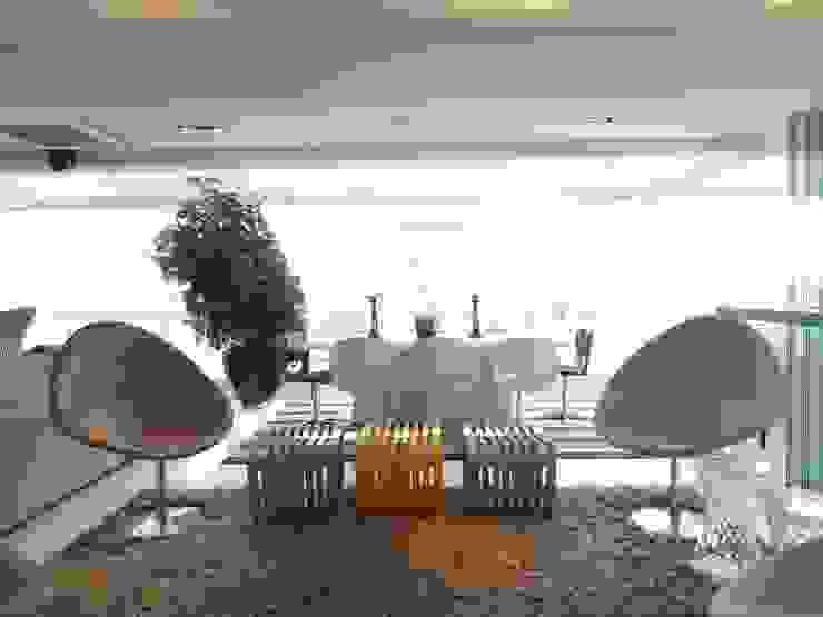 05_Projeto de Interiores Salas de jantar modernas por Paula Carvalho Arquitetura Moderno