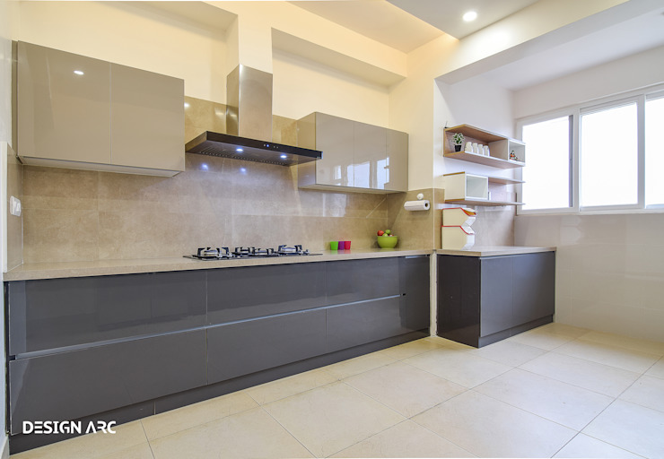 Modular Kitchen Design Bangalore Design Arc Interiors Interior Design Company Modern Kitchen Plywood Grey