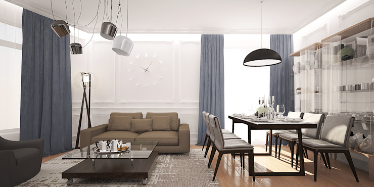 needsomespace Eclectic style living room