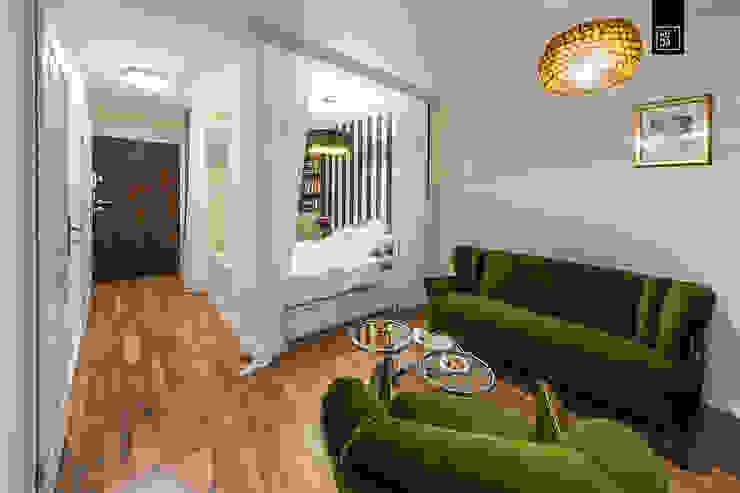 KODO projekty i realizacje wnętrz Eclectic style living room