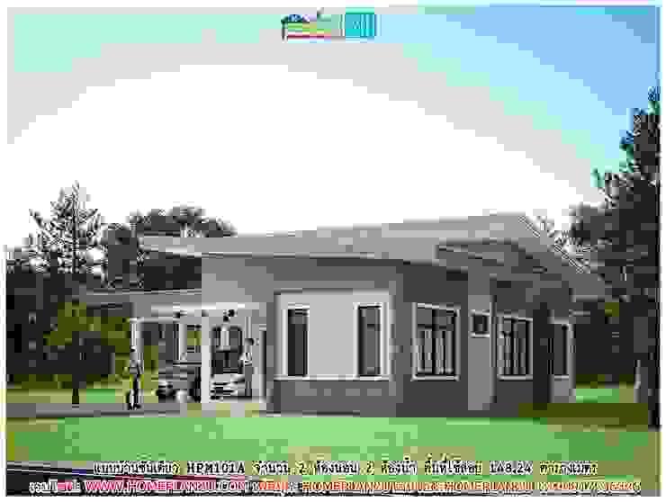 แบบบ้านชั้นเดียว HPM101A โดย แบบแปลนบ้านสำเร็จรูป