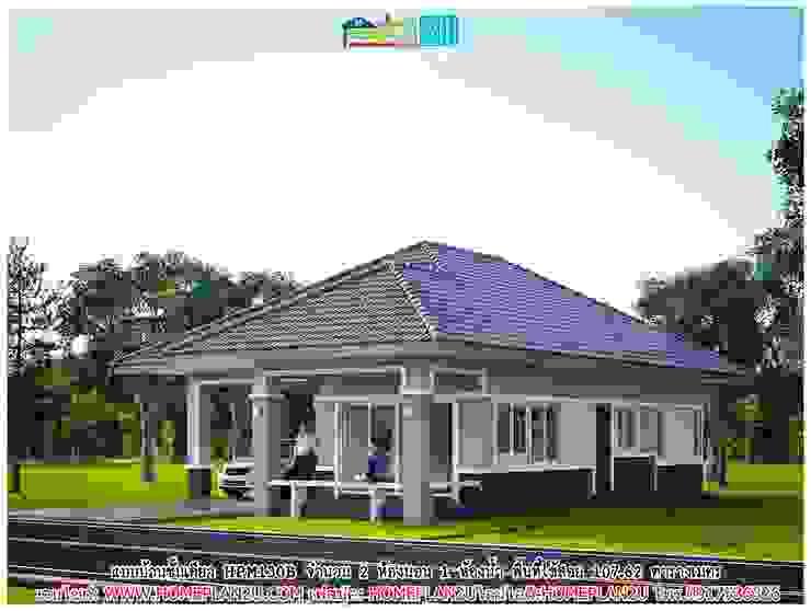 แบบบ้านชั้นเดียว HPM130B โดย แบบแปลนบ้านสำเร็จรูป
