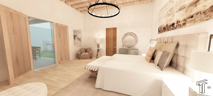 CC Country style bedroom by TAMEN arquitectura Country