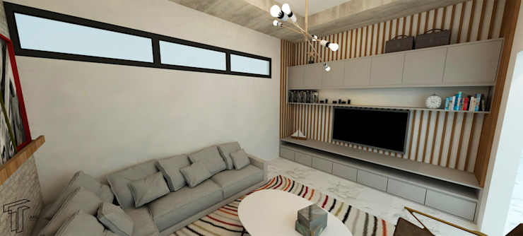 Living room by TAMEN arquitectura, Modern