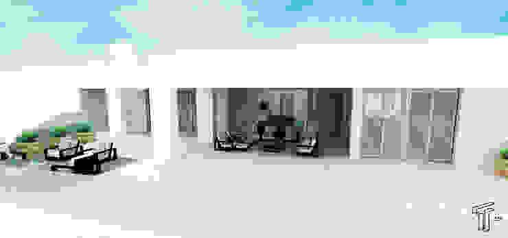 DLLL Modern Terrace by TAMEN arquitectura Modern