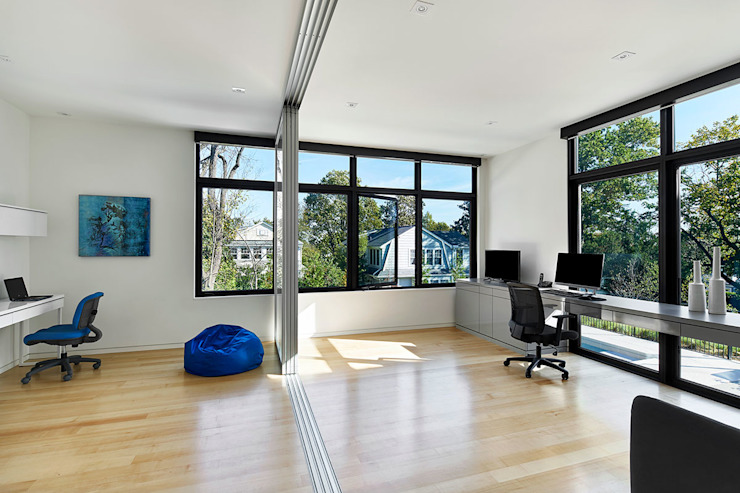 Rosedale Residence Modern Study Room and Home Office by KUBE architecture Modern