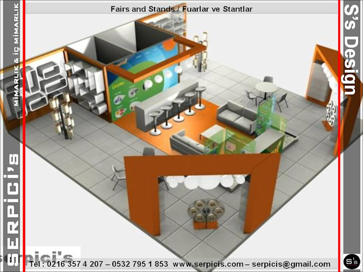 FARMAMAK – FUAR PROJE TASARIM ve UYGULAMALARI – SERPİCİ's MİMARLIK ve İÇ MİMARLIK – S's Desıgn SERPİCİ's Mimarlık ve İç Mimarlık Architecture and INTERIOR DESIGN Modern Ahşap Ahşap rengi