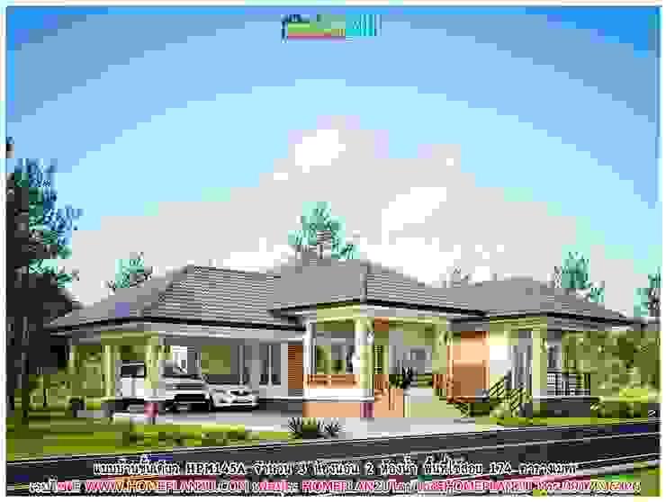 แบบบ้านชั้นเดียว HPM145A โดย แบบแปลนบ้านสำเร็จรูป