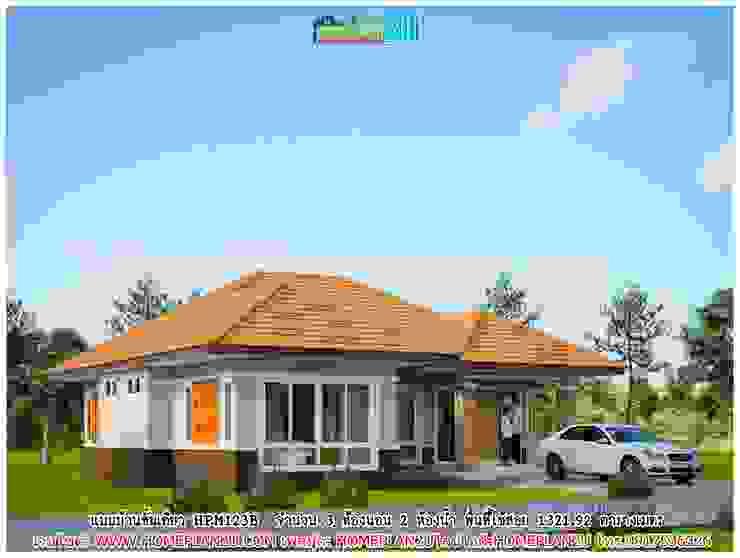 แบบบ้านชั้นเดียว HPM123B โดย แบบแปลนบ้านสำเร็จรูป